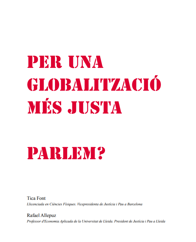 For a fairer globalization. Shall we talk?