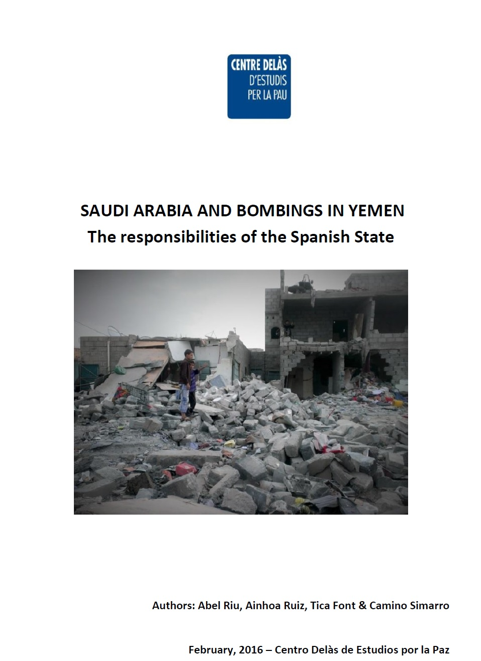 Centro Delàs' Report: Saudi Arabia and bombings in Yemen: the responsibilities of the Spanish State