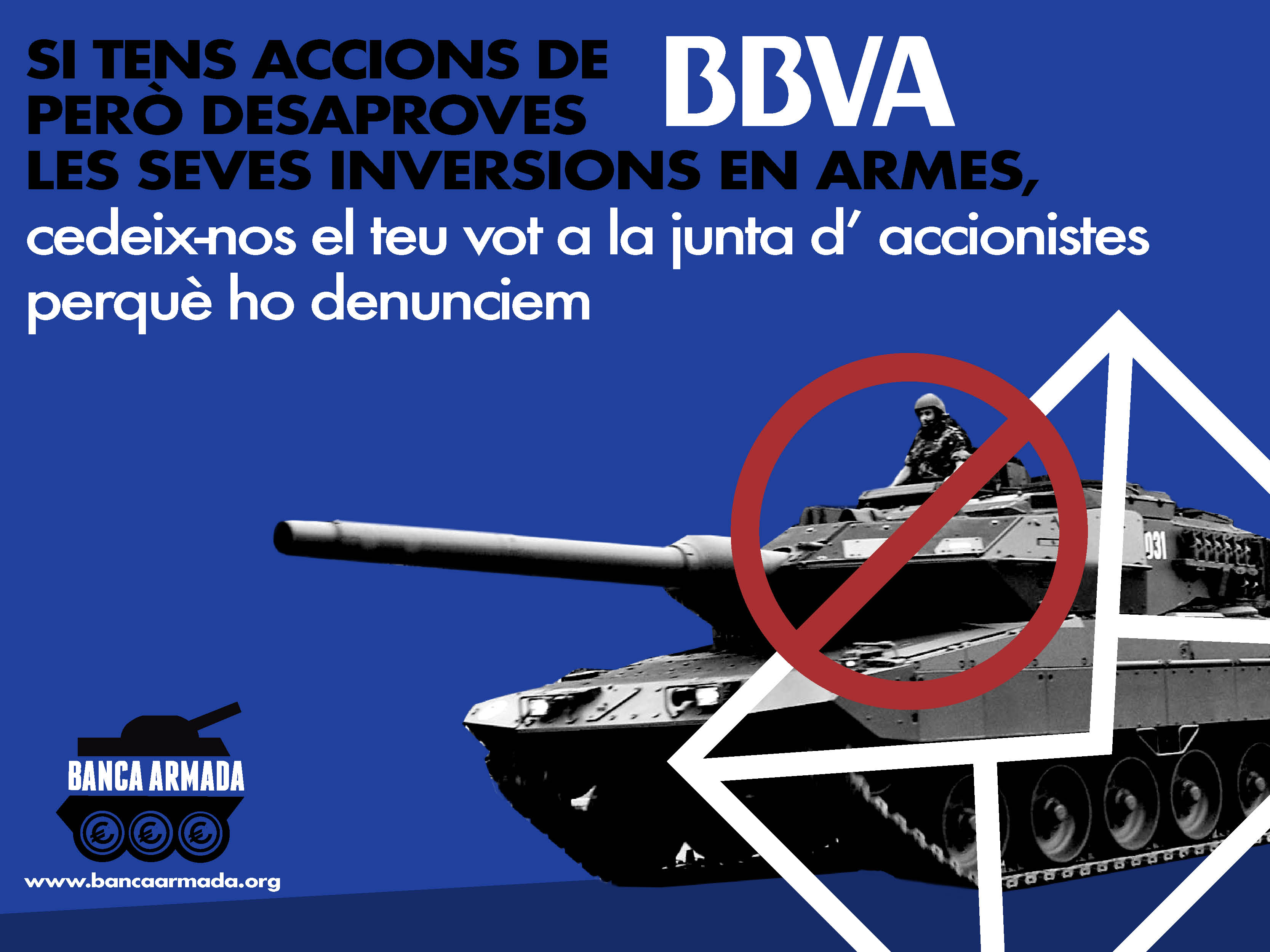 Petition for action to denounce investments in weapons at the 2018 share holders meeting of BBVA