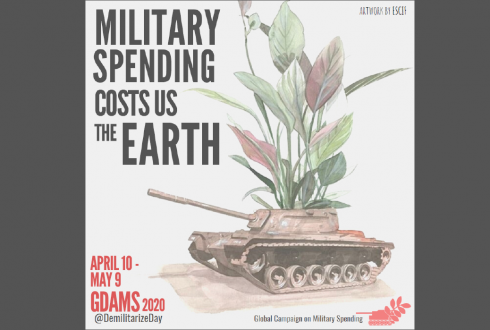 Global Days of Action on Military Spending (GDAMS) will take place from April 10 to May 9